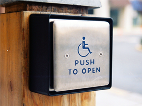Accessible to deaf people? Push Button Door Opener